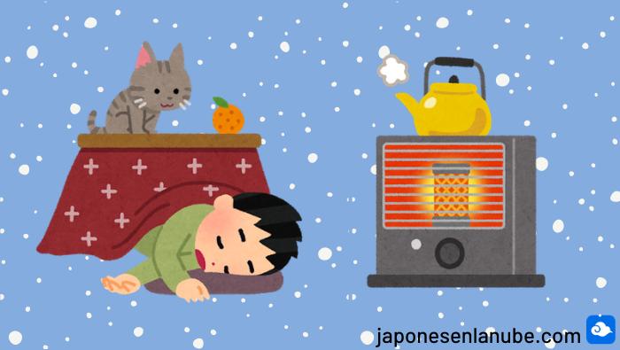 invierno en Japón kotatsu