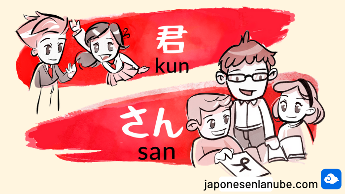 nombres japoneses san, chan, kun, sama
