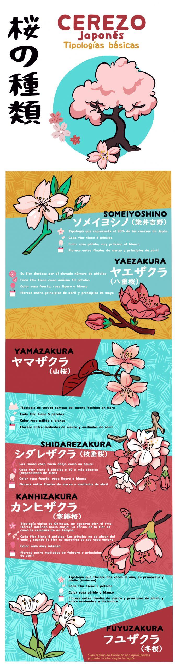 tipologías de cerezo japonés